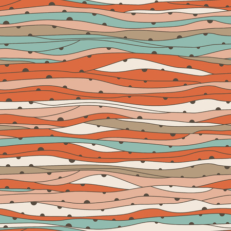Seamless hand-drawn waves texture Copy that square to the side and you ll get seamlessly tiling pattern which gives the resulting image the ability to be repeated or tiled without visible seams  Illustration