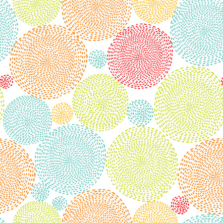 Seamless circle background, seamless pattern with round shapes Vector