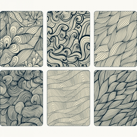 Fashion tablet skins. Modern abstract backgrounds with wave lines to customize your original device, design for card, label, tag, sticker. Vector