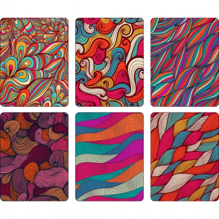 Fashion tablet skins. Modern abstract backgrounds with wave lines to customize your original device, design for card, label, tag, sticker. Ilustração