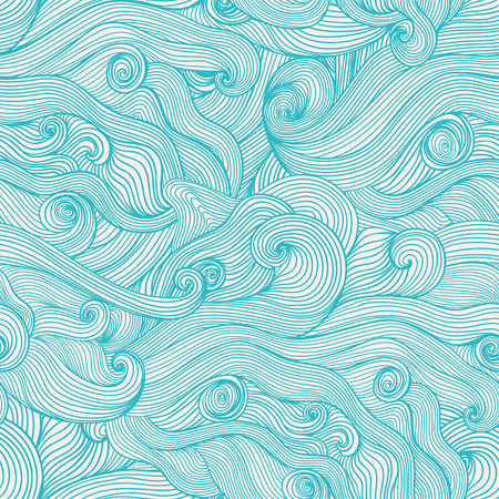 sheepskin: Seamless hand-drawn waves texture Copy that square to the side and you ll get seamlessly tiling pattern which gives the resulting image the ability to be repeated or tiled without visible seams  Illustration