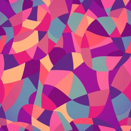 seamless geometric: Colori vivaci mosaico seamless, illustrazione vettoriale sembra patchwork o in vetro colorato window.Abstract pattern con motivi geometrici. Vettoriali