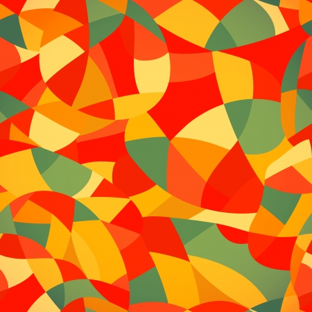 Bright colors mosaic seamless pattern, vector illustration looks like patchwork or stained-glass window.Abstract pattern with geometric motifs. Vector
