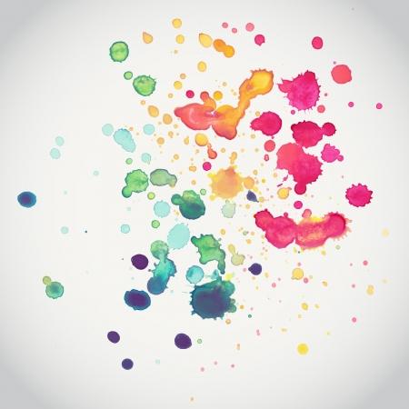 Acuarela vector sin patrón. Sin fisuras patrón se puede utilizar para el papel pintado, patrones de relleno, de fondo página web, texturas superficiales. Foto de archivo - 25326431