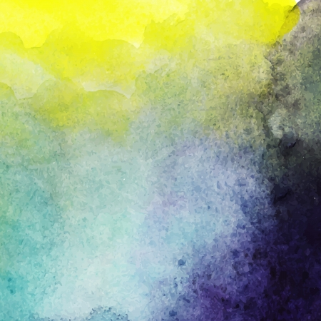 scan: abstract vector hand drawn watercolor background, stain watercolors colors wet on wet paper