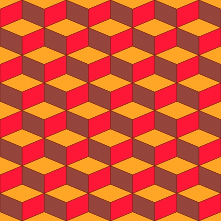multilayer: Seamless geometric pattern with geometric shapes, rhombus, colorful zigzags, looks like stairs or multi-layer object.