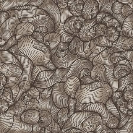 endless repeat structure: seamless abstract hand-drawn pattern, waves background.