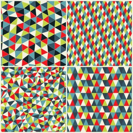 Set of four geometric pattern.