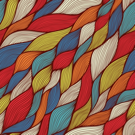 seamless pattern: seamless abstract hand-drawn pattern, waves background