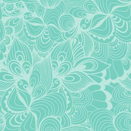 art deco design: Seamless abstract hand-drawn waves pattern, wavy background  Seamless pattern can be used for wallpaper, pattern fills, web page background,surface textures  Gorgeous seamless floral background Illustration