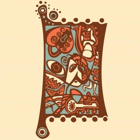stylized design: Disegno stilizzato Psychedelic