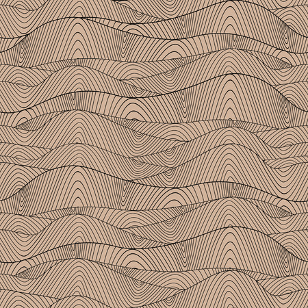 Abstract hand-drawn waves texture, wavy background  Colorful waves backdrop  Illustration