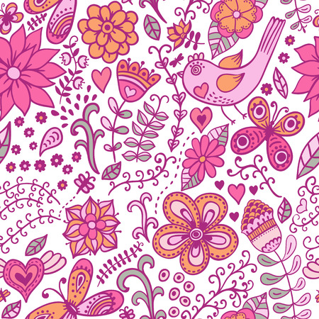 Floral seamless pattern with flowers  Copy square to the side and you ll get seamlessly tiling pattern which gives the resulting image ability to be repeated or tiled without visible seams