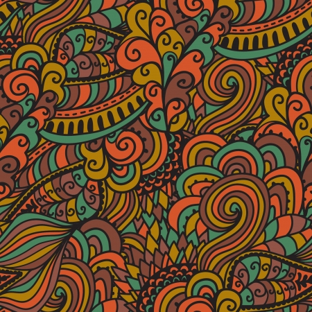 waves pattern: Seamless abstract hand-drawn waves pattern, wavy background.