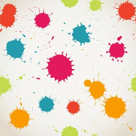 페인트 수채화 원활한 패턴 스프레이.