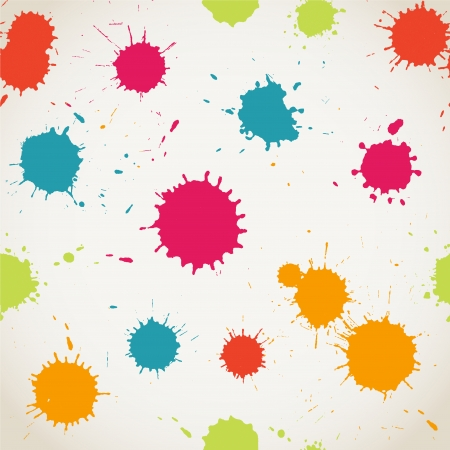 color splash: Spray paint watercolor seamless pattern. Illustration