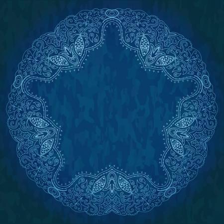 oblong: Ornamental round lace pattern, circle background
