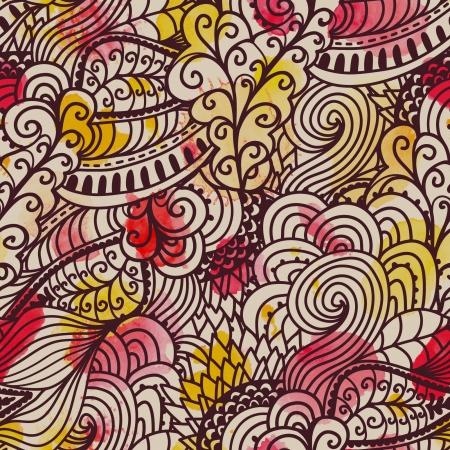 light streaks: Watercolor vector seamless pattern.