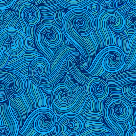 clots: Seamless abstract hand-drawn waves texture, wavy background.