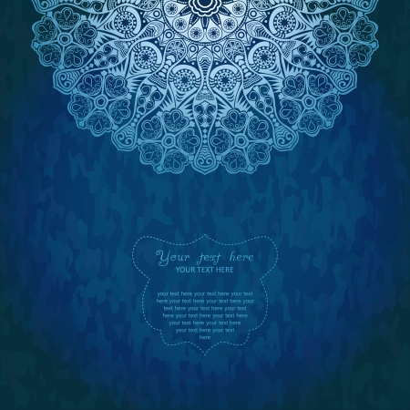 diameter: Vintage invitation decoration on grunge background with lace ornament.  Illustration