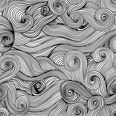 Seamless abstract hand-drawn waves texture.Copy that square to the side and you'll get seamlessly tiling pattern which gives the resulting image ability to be repeated or tiled without visible seams. Vector