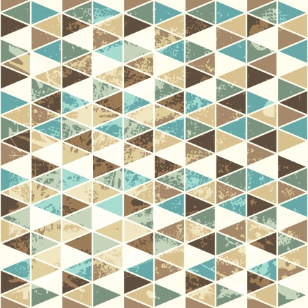 Seamless texture with triangles, mosaic endless pattern. That square design has the ability to be repeated or tiled without visible seams. Stock Vector - 25356321