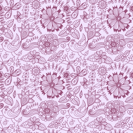 Seamless floral background. Copy that square to the side and youll get seamlessly tiling pattern which gives the resulting image the ability to be repeated or tiled without visible seams.
