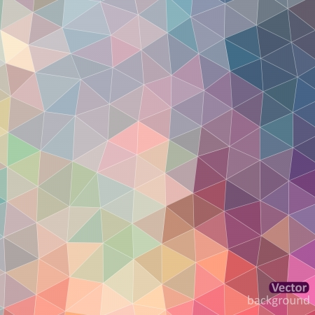 Retro pattern of geometric shapes. Triangle colorful mosaic backdrop. Geometric hipster retro background, place your text on the top of it. Retro triangle background. Vector