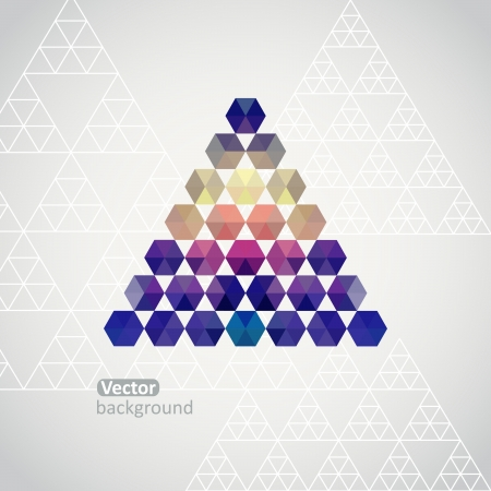 Triangle triangle background, vector illustration with plenty space for your text Vector