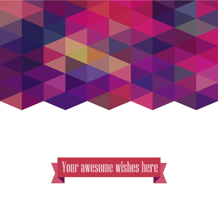 Triangle template background, triangle background, vector illustration with plenty space for your text Illustration