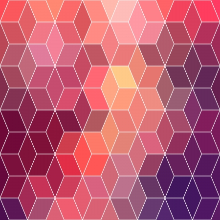 Hipster geometric background made of cubes.Retro hipster color mosaic background. Square composition with geometric shapes.Geometric hipster retro background with place for your text. Retro background Vector