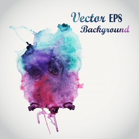 colorful background: Abstract hand drawn watercolor background,vector illustration, stain watercolors colors wet on wet paper. Watercolor composition for scrapbook elements Illustration