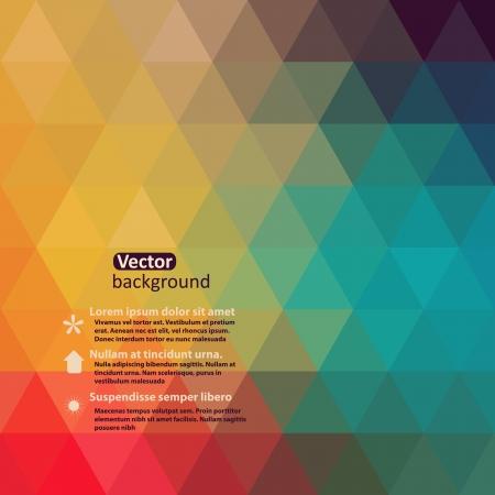 Modelo retro de las formas geométricas. Colorido mosaico de prohibición ner. Geometric inconformista retro de fondo con lugar para el texto. Fondo retro triángulo