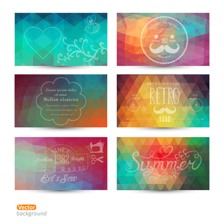 Grunge vector banner. Abstract header vector background set. Triangle seamless banners. Retro label design. Geometric shapes. You can place your message above triangles rectangle. Grunge. Imagens - 25377804