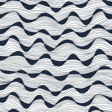 Seamless abstract hand-drawn waves texture.Copy that square to the side and youll get seamlessly tiling pattern which gives the resulting image ability to be repeated or tiled without visible seams.