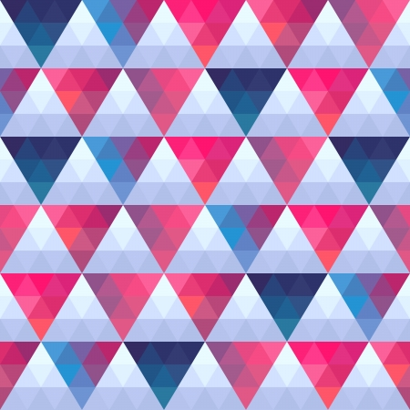 Seamless texture with triangles, mosaic endless pattern. That square design has the ability to be repeated or tiled without visible seams. Stock Vector - 25378284