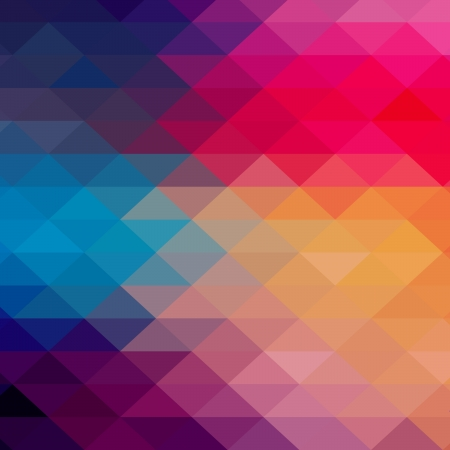 color in: Modelo retro de las formas geom�tricas. Bandera de mosaico de colores. Geometric inconformista retro de fondo con lugar para el texto. Fondo retro tri�ngulo