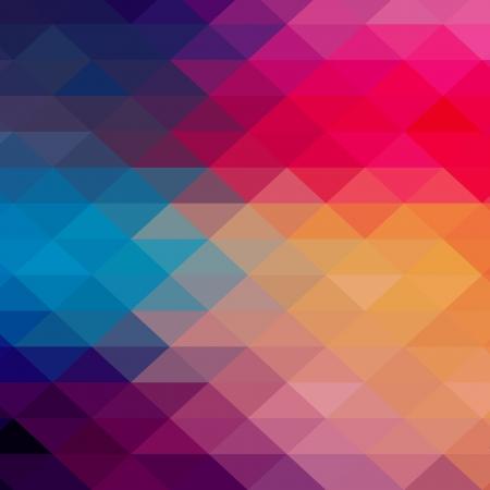 gestalten: Retro-Muster aus geometrischen Formen. Bunte Mosaik-Banner. Geometrische Hipster Retro-Hintergrund mit Platz für Ihren Text. Retro Dreieck Hintergrund