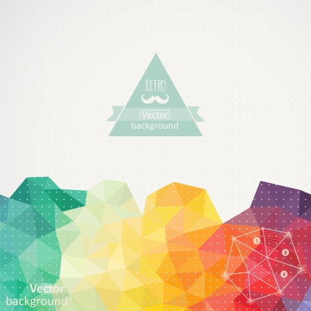 cool background: Triangle pattern background, triangle background, vector illustration with plenty space for your text