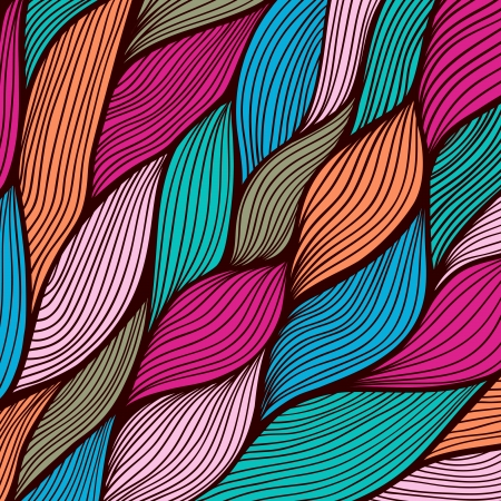 Vector abstract hand-drawn waves texture, wavy background. Colorful waves backdrop. Vector
