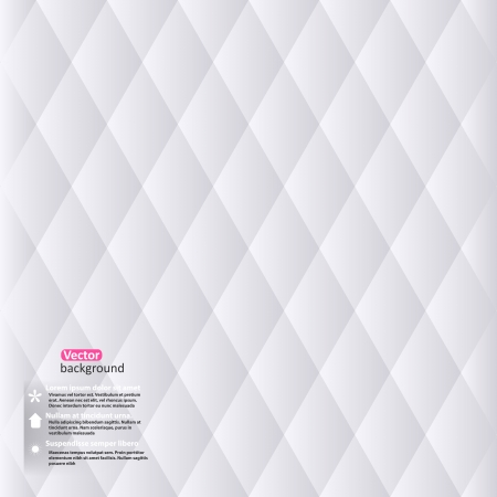 Vector abstract white geometric background. Vector Illustration with rhomb. Minimalistic backdrop. Vector