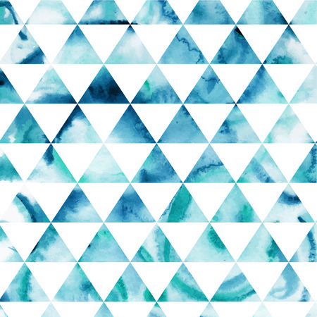 Vector watercolor triangles pattern. Modern hipster pattern. Colorful texture in hipster style. Geometry template. Grunge pattern.Retro triangle background. Bright pattern Vector
