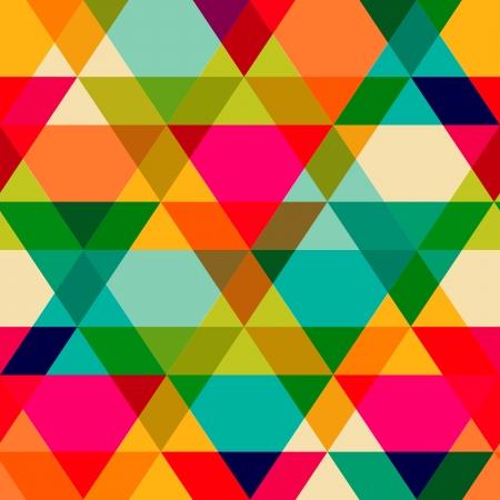 muster: Muster von geometrischen Formen. Triangles.Texture mit Fluss Spektrum Wirkung. Geometrische Hintergrund. Kopieren Sie diesen Platz an der Seite, kann das resultierende Bild wiederholt werden, oder gefliest, ohne sichtbare Nähte. Illustration