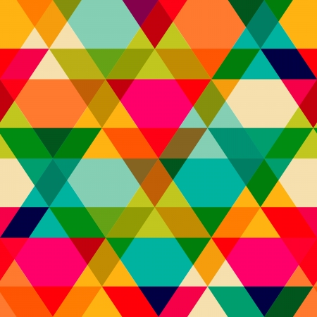 repeated: Pattern of geometric shapes. Triangles.Texture with flow of spectrum effect. Geometric background. Copy that square to the side, the resulting image can be repeated, or tiled, without visible seams.