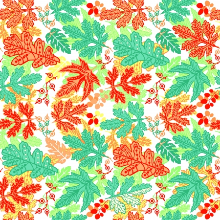 Seamless leaf pattern.Leaf background. Autumn seamless pattern. Vector backdrop. Bright pattern. Autumn template. Use for wallpaper, pattern fills, web page background Vector