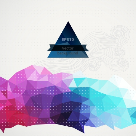 swagger: Vector triangle pattern background, triangles background, vector illustration with plenty space for your text. Geometric backdrop. Modern banner design template, vector illustration.