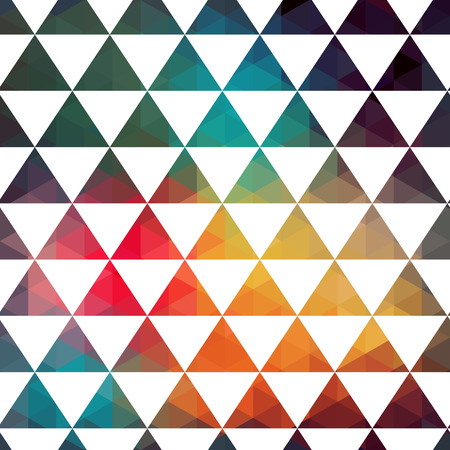 parallelepiped: Vector triangles pattern. Modern hipster pattern. Colorful texture in hipster style. Geometry template. Grunge pattern.Retro triangle background. Bright pattern Illustration