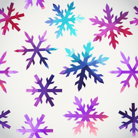 winter vector: Vector snowflakes pattern. Abstract snowflake of geometric shapes. Christmas. New Year card illustration. Holiday design. Winter. Backdrop. Seamless pattern can be used for wallpaper, pattern fills Illustration
