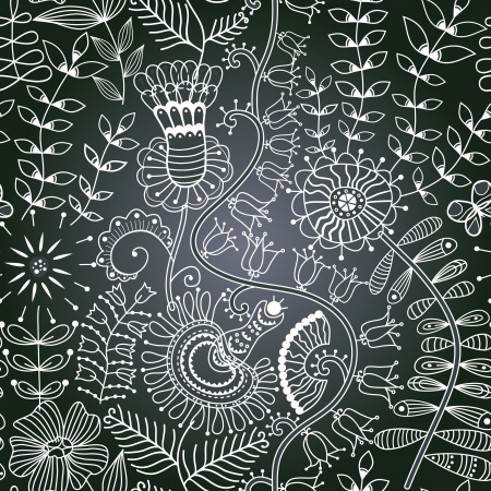 Vector chalkboard seamless floral pattern. Copy that square to the side,youll get seamlessly tiling pattern which gives the resulting image the ability to be repeated or tiled without visible seams.