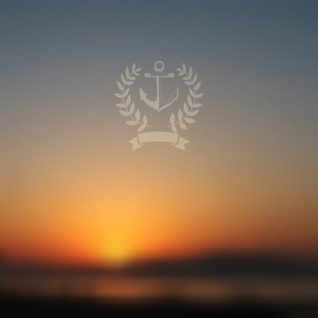 Vector web and mobile interface background. Corporate website design. Minimalistic  media backdrop. Vector. Editable. Unfocused. Wreath. Seaside background. Badge. Blurred Sunset, sunrise wallpaper Vector